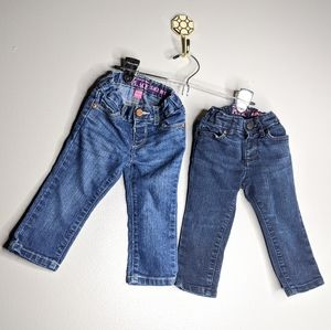 2 Pair Children's Place 9-12 Months Skinny Jeans